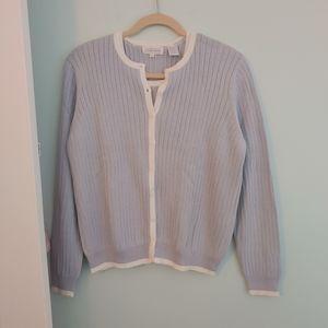 NWOT Jeanne Pierre, M, sweater set, light blue